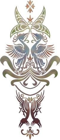 Div59873 motif celtique oiseaux p