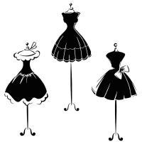 Div91214 pochoir petite robe noire style pochoir mon artisane 1