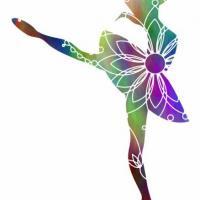 Enf3254 danseuse danse classique pochoir couleur