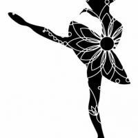Enf3254 danseuse danse classique pochoir