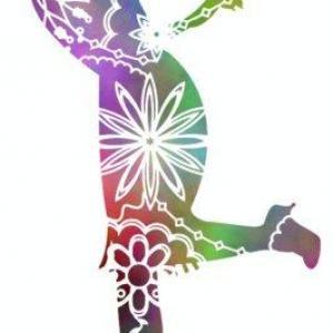 Enf3258 danseuse charleston pochoir couleur 1