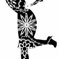Enf3258 danseuse charleston pochoir