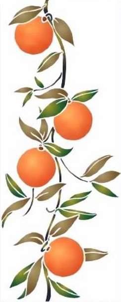 F 012 frise oranges verti