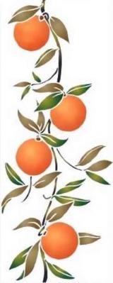 Frise oranges verticale