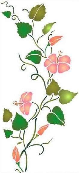 F116 frise hibiscus