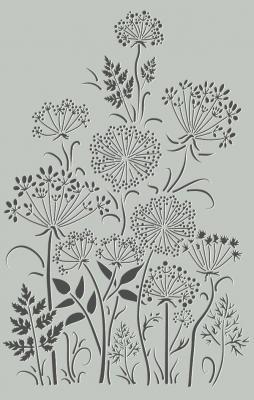 Paysage fleurs des champs