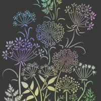 Fl12008 paysage floral fleurs des champs pochoir a peindre