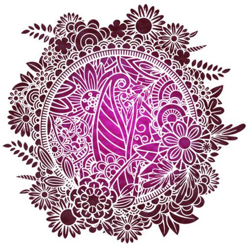 Fl37741 cercle de fleurs mandala en pochoir mon artisane style pochoir