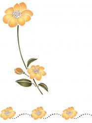 Kit fleurs jaunes