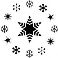 Flocons de neige pochoir rond noel fetes pour vitres et gateaux pochoir patisserie mon artisane