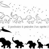 Fr37102 frise elephants mignons pochoir enfants resultat mon artisane p