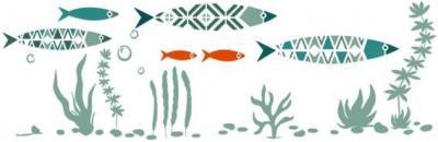 Frise poissons modernes
