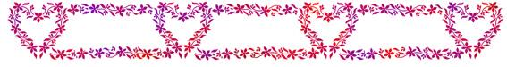 Fri054404 frise de coeurs fleuriscp