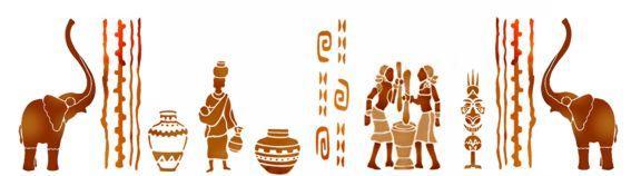 Fri145456 frise africaine