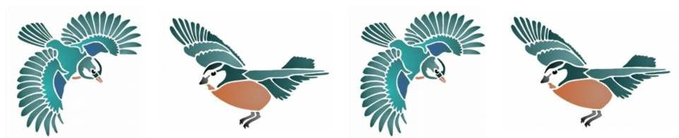 Fri156896 frise 4 oiseaux