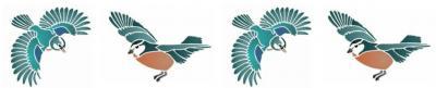 Frise 4 oiseaux