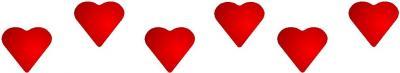 Frise cœurs