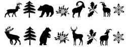 Frise animaux de la montagne