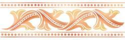 Frise baroque feuilles