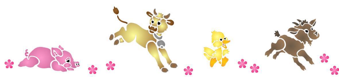 Fri485752 frise animaux ferme