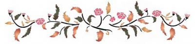 Frise feuillage fleuri
