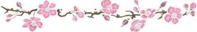 Frise fleurs de pommier