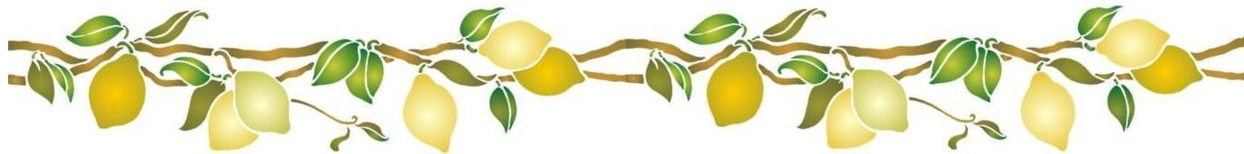 Fri746411 frise citrons 2 10x80cm
