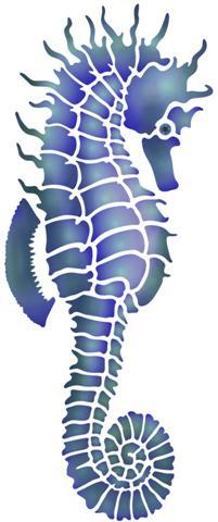 Hippocampe pochoir mon artisane mar91245 small