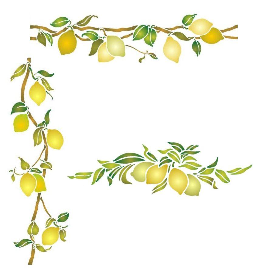 Kit pochoirs citrons promo style pochoir monartisane