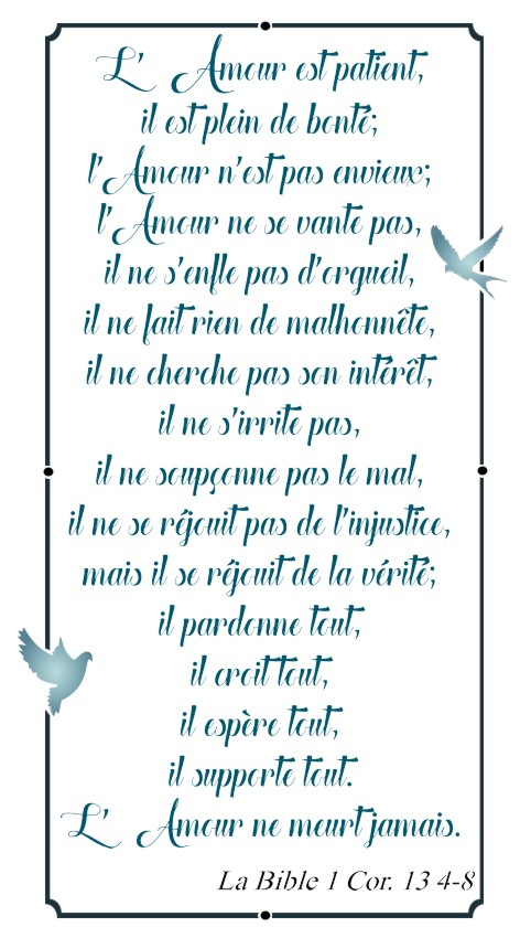 Lett34887 lettrage l amour bible 1cor 13 4 8 pochoir a peindre mon artisane decoration murale sticker verset biblique