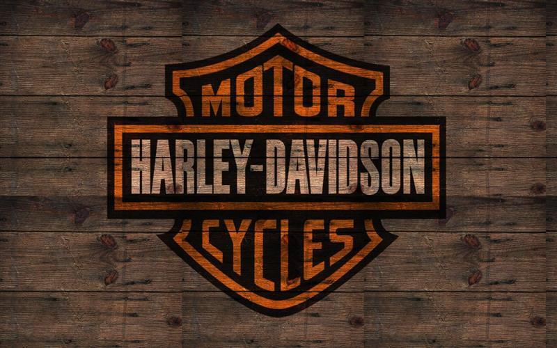 Logo harley davidson sur ton bois medium