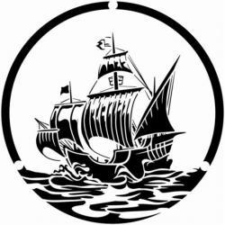 Pochoir de voilier