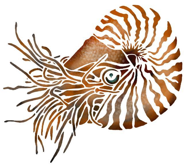 Mar68941 pochoir nautilusmon artisane style pochoir