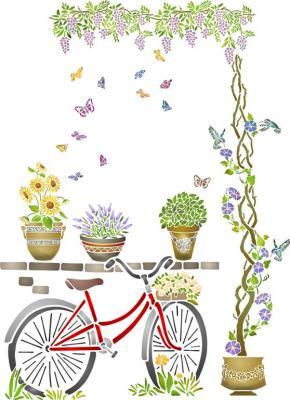 Vélo glycine plantes