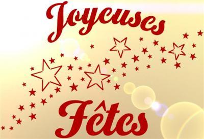 Joyeuses Fêtes étoiles