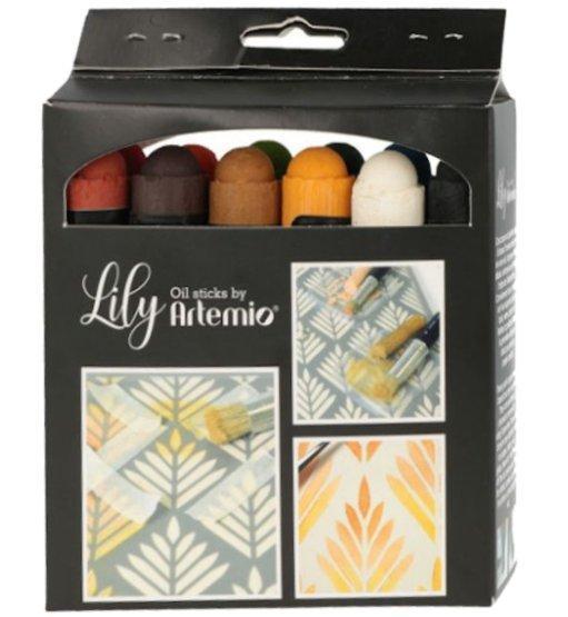Pack 12 peintures lily pastels neutres paintstick huile
