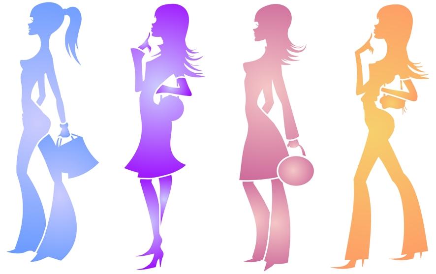 Pochoir 4 filles modernes mon artisane spmu115