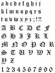 Pochoir alphabet gothique plastique 400 microns