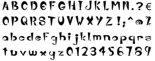 Pochoir alphabet zebatty alph108