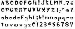 pochoir alphabet Zebatty plastique 400 microns