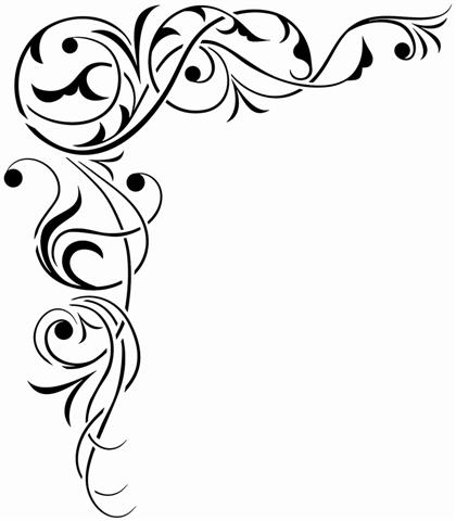 Pochoir angle baroque stylise stipo1643
