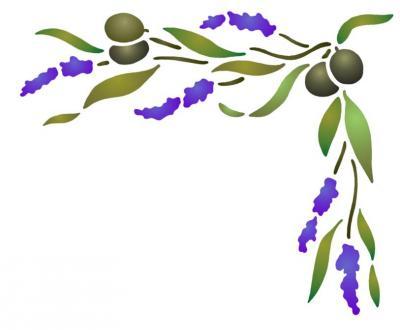 Angle lavande et olives