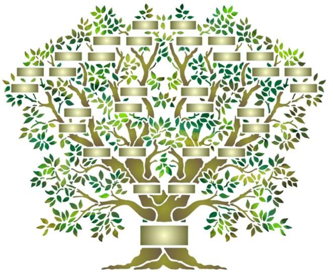 Pochoir arbre genealogique