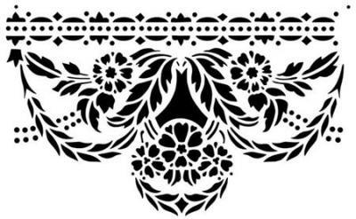 Frise baroque fleurie large