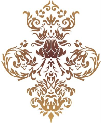 Pochoir baroque