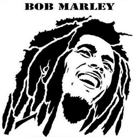Pochoir bob marley