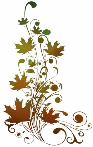 Pochoir branche de feuilles arbre erable a peindre mon artisane fl14001