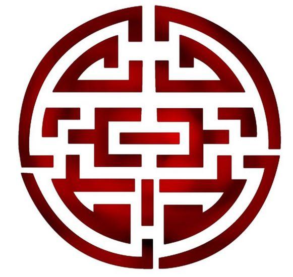 Pochoir cercle chinois