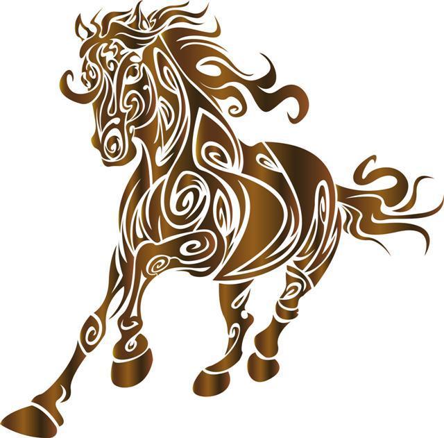 Pochoir cheval design