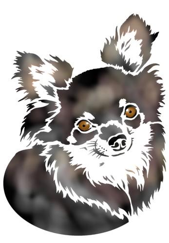 Pochoir chien chiwawa sticker chiwawa